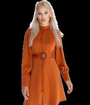 Terracotta a-line dress