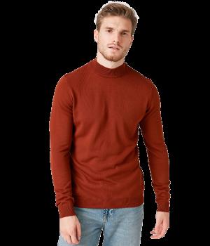 High Neck Cotton T-Shirt