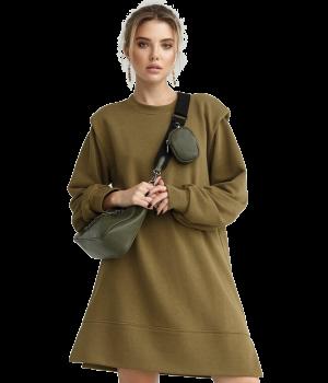 Oversized Olive Dress